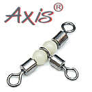 AX-92138 T-Sharp Cross-Line Rolling Swivel Pearl Beads