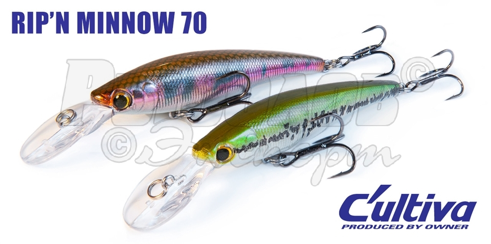 воблер owner c ultiva rip n minnow 65 купить